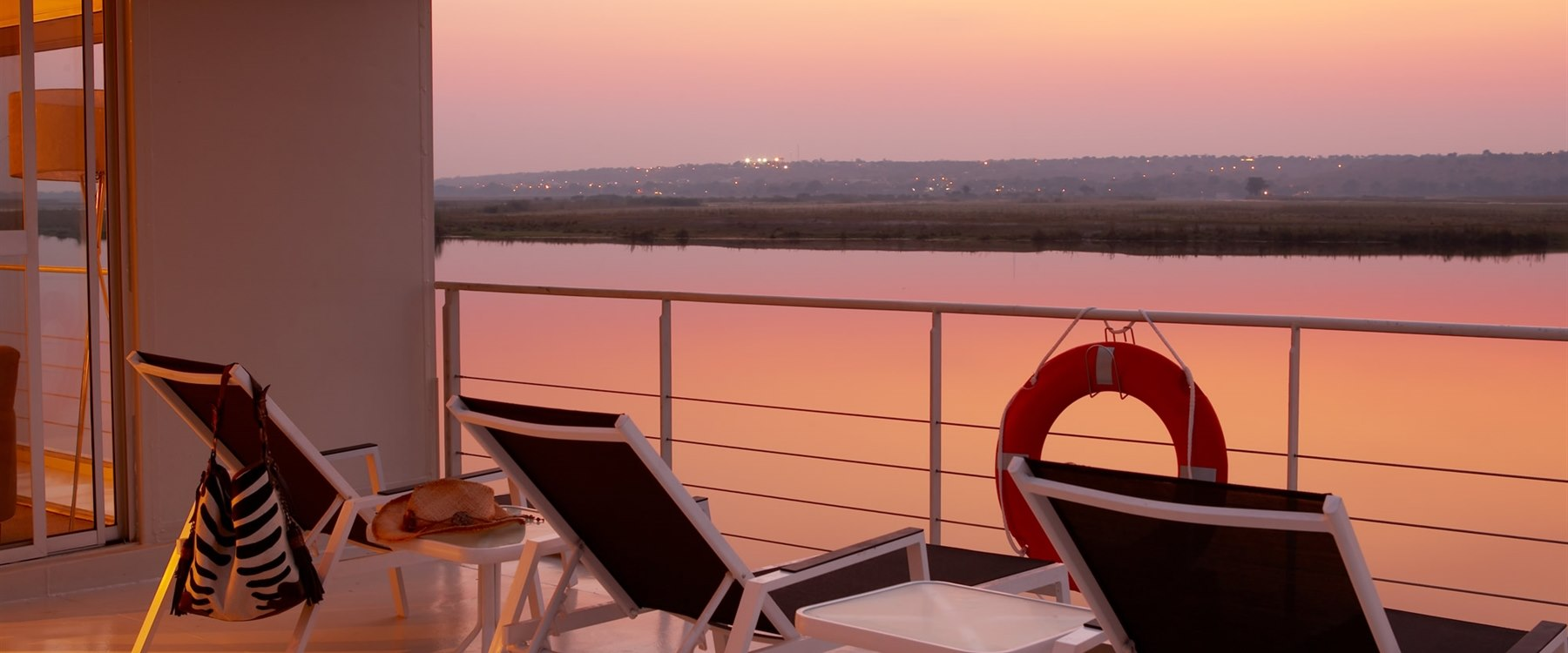Balcony on Zambezi Queen
