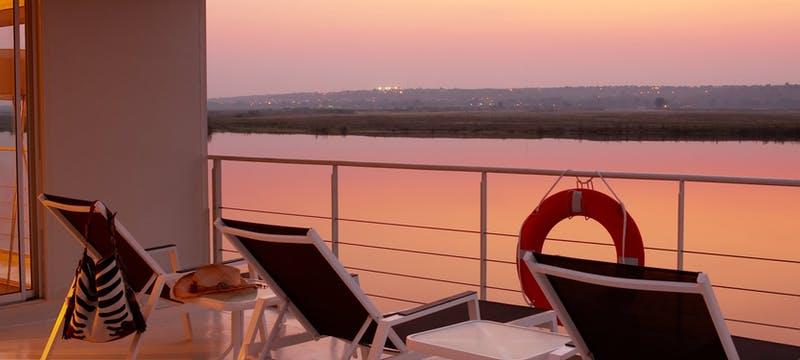 Balcony on Zambezi Queen