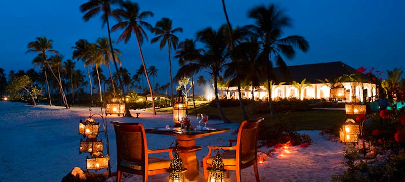 Beach at Night at The Residence Zanzibar