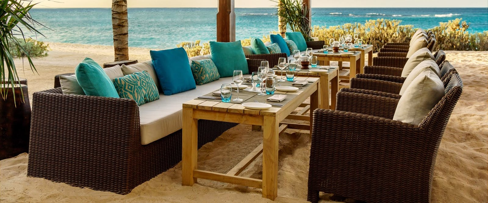 Beachfront Restaurant at Zemi Beach House, Anguilla