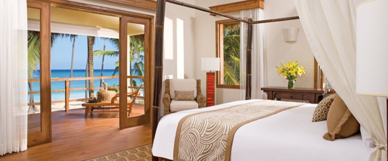 Junior Suite Deluxe Ocean Front at Zoetry Agua Punta Cana, Dominican Republic